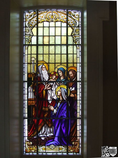 Mother Mary and Jesus Stained Glass Window Shrine of Our Lady of Guadalupe La Crosse WI