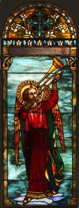 Restored window from Lafayette Presbyterian Church in Brooklyn, NY