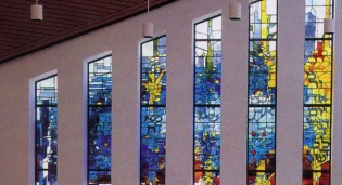 Judaic Stained Glass - Temple Israel, White Plains, NY