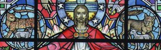 new stained glass for church bluff park
