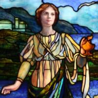 Restored stained glass lafayette presbyterian church brooklyn Rohlf's