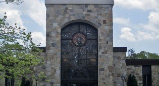 New Stained Glass and Carved Glass for Recent Major Renovation - St. Aloysius Church - New Canaan, CT