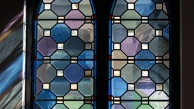 Geometric Stained Glass Window - Blessed Kateri Church - LaGrangeville, NY