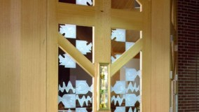 Carved Glass Entryway - St. Elizabeth's Roman Catholic Church - Wycoff, NJ