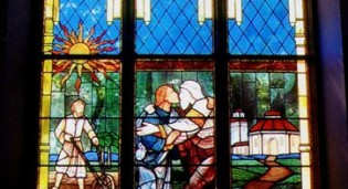 Stained glass window for St. Luke's Roman Catholic Church - Whitestone, NY