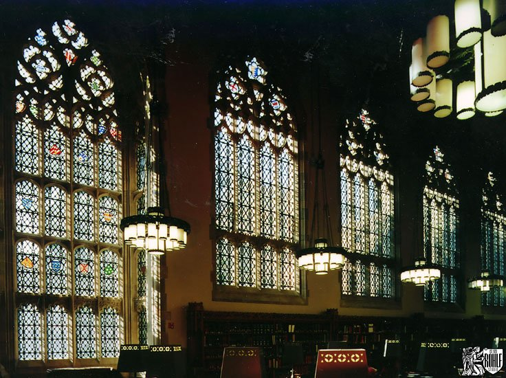 Restored Stained Glass at Yale University - Sterling Memorial Library Main Reading Room - New Haven, CT