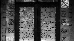 Carved Glass Entryway by Rohlf Studio - St. Mary's Roman Catholic Church - Portland, CT