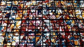 Stained glass for building - Kasugai Seibu Shopping Center - Nagoya, Japan