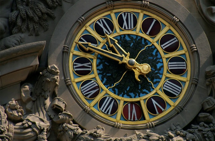 Exterior View Tiffany Clock GCT Grand Central NYC New York