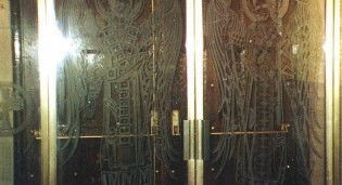 Carved Glass Angels Front Entrance and Narthex Screen - Holy Trinity Greek Orthodox Cathderal - NY