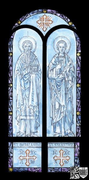 Carved Nave Windows Along with a new Stained Glass Border - St. George Greek Orthodox Church - Holmdel, NJ
