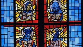 New Stained Glass Window Four Evangelists by Rohlf for St. Boniface Episcopal Church - Lindenhurst, NY