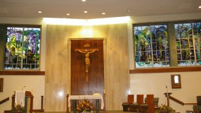 New Church Stained Glass Windows by Rohlf for St. Charles Borromeo Church