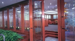 Frank Lloyd Wright Style Windows in Commerical Office Building