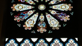 Restored Rose Stained Glass Window