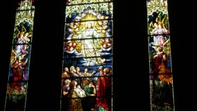 Lancet stained glass restoration - Christ Episcopal Church - Greenwich, CT