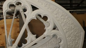New Replicated Mahogany Window Frames for Stained Glass