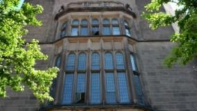 Exterior of Osborn Memorial Laboratories before leaded glass restoration