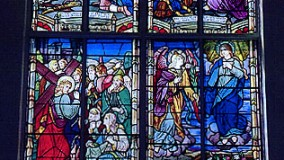 St. Joseph's Church Completed Transept Stained Glass Window