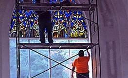St. Joseph's Church During Installation of Transept
