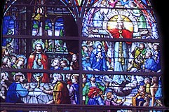 St. Joseph's Church - Completed Altar Stained Glass Window