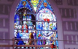 St. Joseph's Church Completed Altar Stained Glass Window