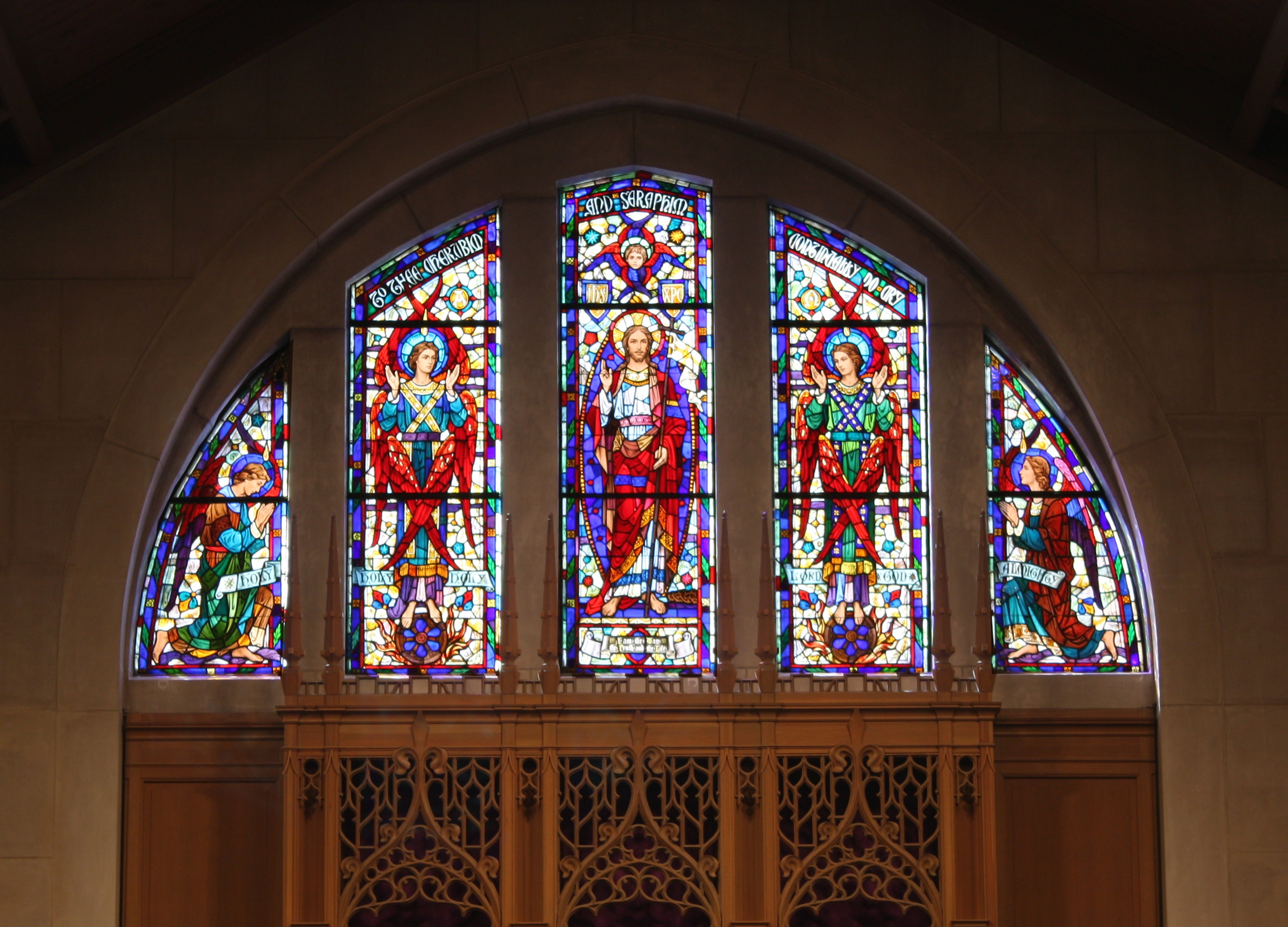 Church Stained Glass Window Restoration White Plains Presbyterian Rohlfs  Studio