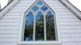 Grace Episcopal Church Exterior Stained Glass Protection City Island